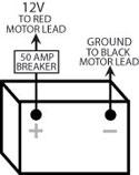 trolling motor wiring on