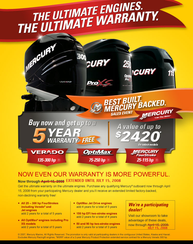 Mercury outboard warranty for Best outboard motor warranty